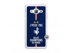 Coque Samsung Galaxy J3 2016 Je Peux Pas On Est Les Champions Du Monde Translu