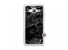 Coque Samsung Galaxy J3 2016 Black Marble Translu