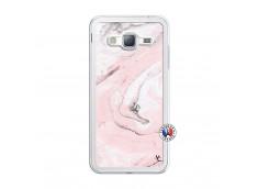 Coque Samsung Galaxy J3 2016 Marbre Rose Translu