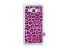 Coque Samsung Galaxy J3 2016 Pink Leopard Translu
