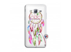 Coque Samsung Galaxy J3 2016 Pink Painted Dreamcatcher
