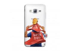Coque Samsung Galaxy J3 2016 Super Papa et Super Bébé
