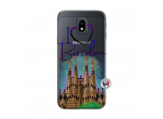 Coque Samsung Galaxy J3 2017 I Love Barcelona