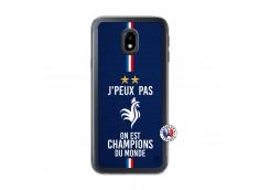 Coque Samsung Galaxy J3 2017 Je Peux Pas On Est Les Champions Du Monde Translu