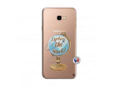 Coque Samsung Galaxy J4 Plus Globe Trotter