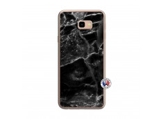 Coque Samsung Galaxy J4 Plus Black Marble Translu