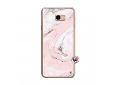 Coque Samsung Galaxy J4 Plus Marbre Rose Translu