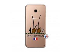 Coque Samsung Galaxy J4 Plus 100 % Rugbyman Entre les Poteaux