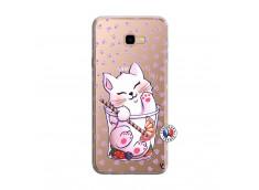 Coque Samsung Galaxy J4 Plus Smoothie Cat