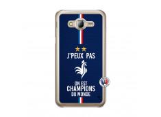 Coque Samsung Galaxy J5 2015 Je Peux Pas On Est Les Champions Du Monde Translu