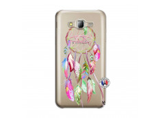 Coque Samsung Galaxy J5 2015 Pink Painted Dreamcatcher