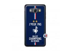 Coque Samsung Galaxy J5 2016 Je Peux Pas On Est Les Champions Du Monde Translu