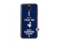 Coque Samsung Galaxy J5 2017 Je Peux Pas On Est Les Champions Du Monde Translu