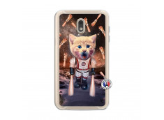 Coque Samsung Galaxy J6 2018 Cat Nasa Translu