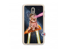 Coque Samsung Galaxy J6 2018 Cat Pizza Translu