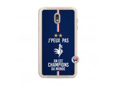 Coque Samsung Galaxy J6 2018 Je Peux Pas On Est Les Champions Du Monde Translu