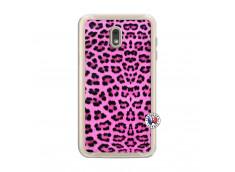 Coque Samsung Galaxy J6 2018 Pink Leopard Translu