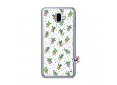 Coque Samsung Galaxy J6 Plus Le Monde Entier est un Cactus Translu