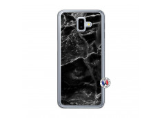 Coque Samsung Galaxy J6 Plus Black Marble Translu