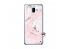 Coque Samsung Galaxy J6 Plus Marbre Rose Translu