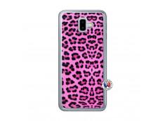 Coque Samsung Galaxy J6 Plus Pink Leopard Translu