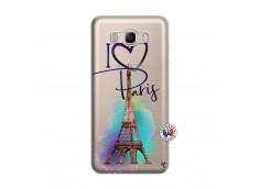 Coque Samsung Galaxy J7 2016 I Love Paris