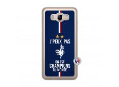 Coque Samsung Galaxy J7 2016 Je Peux Pas On Est Les Champions Du Monde Translu