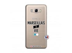 Coque Samsung Galaxy J7 2016 Marseillais à Vie