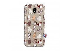 Coque Samsung Galaxy J7 2017 Cat Pattern