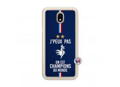 Coque Samsung Galaxy J7 2017 Je Peux Pas On Est Les Champions Du Monde Translu