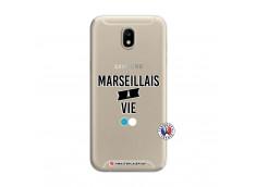 Coque Samsung Galaxy J7 2017 Marseillais à Vie