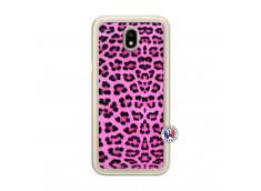 Coque Samsung Galaxy J7 2017 Pink Leopard Translu