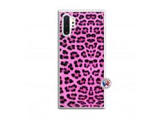 Coque Samsung Galaxy Note 10 Plus Pink Leopard Translu