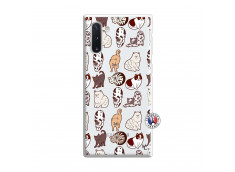 Coque Samsung Galaxy Note 10 Cat Pattern