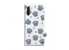 Coque Samsung Galaxy Note 10 Petits Elephants