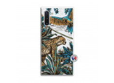 Coque Samsung Galaxy Note 10 Leopard Jungle