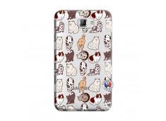 Coque Samsung Galaxy Note 1 Cat Pattern