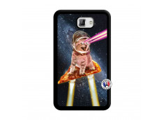 Coque Samsung Galaxy Note 1 Cat Pizza Noir