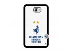 Coque Samsung Galaxy Note 1 Champion Du Monde Noir