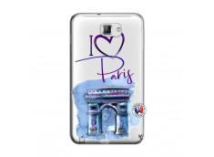 Coque Samsung Galaxy Note 1 I Love Paris Arc Triomphe