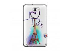 Coque Samsung Galaxy Note 1 I Love Paris