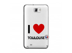 Coque Samsung Galaxy Note 1 I Love Toulouse