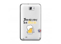 Coque Samsung Galaxy Note 1 Jamais Sans Ma Blonde