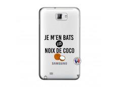 Coque Samsung Galaxy Note 1 Je m'en bats Les Noix De Coco