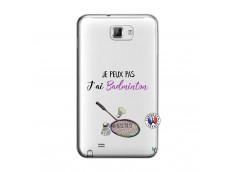 Coque Samsung Galaxy Note 1 Je Peux Pas J Ai Badminton