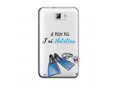 Coque Samsung Galaxy Note 1 Je Peux Pas J Ai Natation