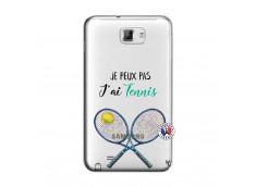 Coque Samsung Galaxy Note 1 Je Peux Pas J Ai Tennis