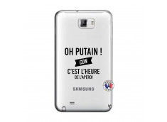 Coque Samsung Galaxy Note 1 Oh Putain C Est L Heure De L Apero