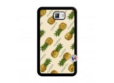 Coque Samsung Galaxy Note 1 Sorbet Ananas Noir