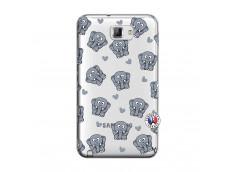 Coque Samsung Galaxy Note 1 Petits Elephants
